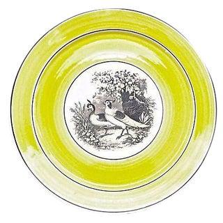 Vintage German Mottahedah Pair of Birds Plate