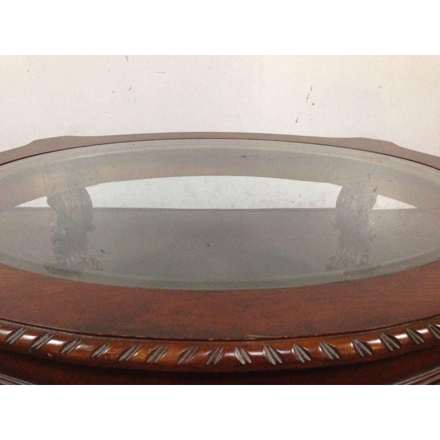 Rococo-Style Carved Mahogany Coffee Table - Image 6 of 7