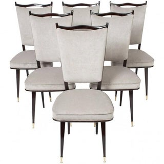 French Mid-Century Modern Dining Chairs - Set of 6
