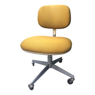 1960s Steelcase Mustard Swivel Chair