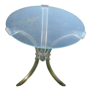 Vintage Hollywood Regency Lucite Side Table