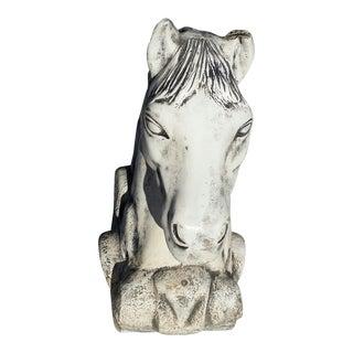 Horse Head Statues - a Pair