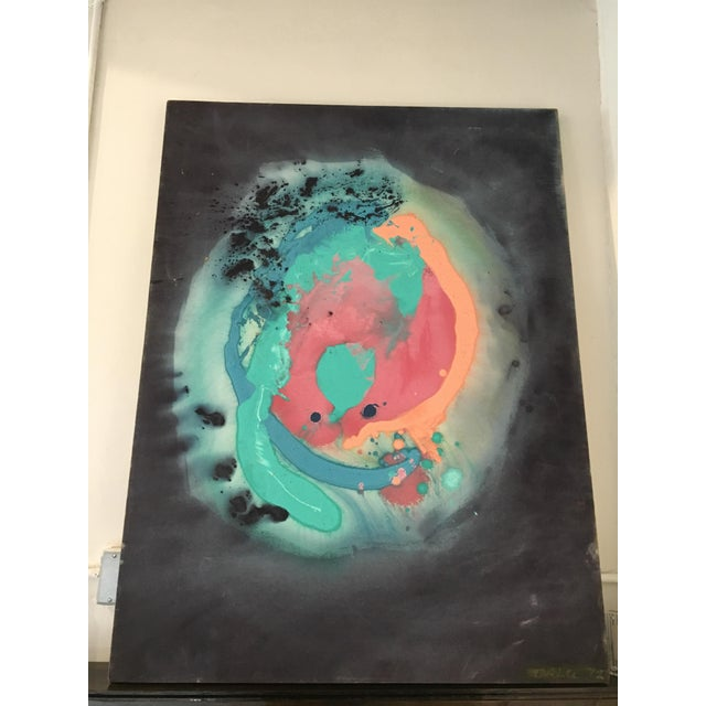 1972 Orlu Abstract Painting - Image 2 of 7