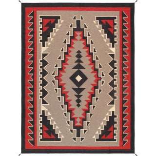 "Navajo Hand Woven Area Rug - 8'10"" x 11'10"""