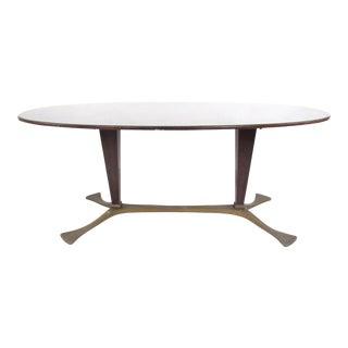 Italian Glass Top Dining Table