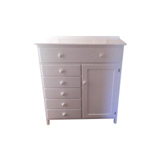 Children's Solid Wood White Dresser