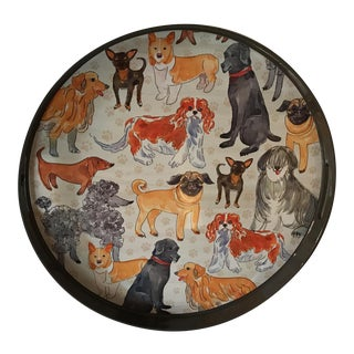 """Round """"Dog Days"""" Lacquer Tray"""