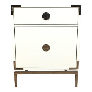 West Elm Contemporary White Nightstand