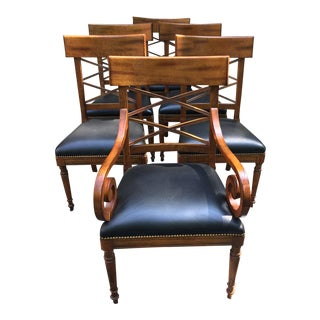 Baker Milling Road Neoclassic Style Dining Chairs - Set of 6