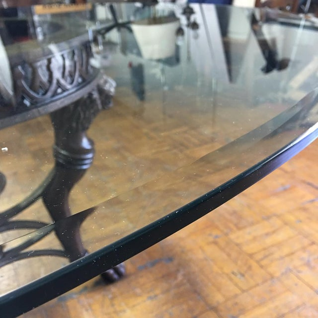 Regency-Style Glass Top Table - Image 10 of 11