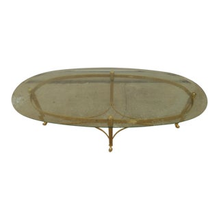 Hollywood Regency Maison Jansen Style Italian Hoof Feet Coffee Table