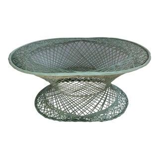 Vintage Spun Fiberlass Cocktail Table With Glass Top