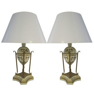 Russian Faberge Egg Gold Accent Lamp