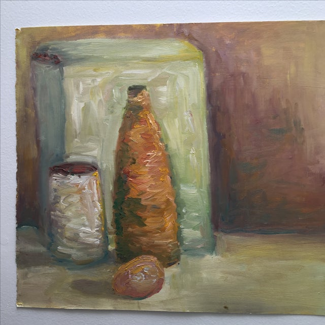 Vintage Abstract Still Life Painting - Image 10 of 11