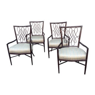 McGuire Barbara Barry Script Armchairs - Set of 4