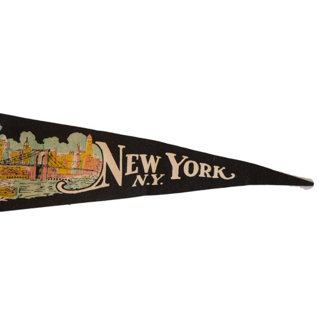 Image of New York Wonder City Vintage Felt Flag
