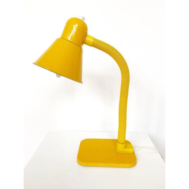 Image of French Yellow Desk Lamp