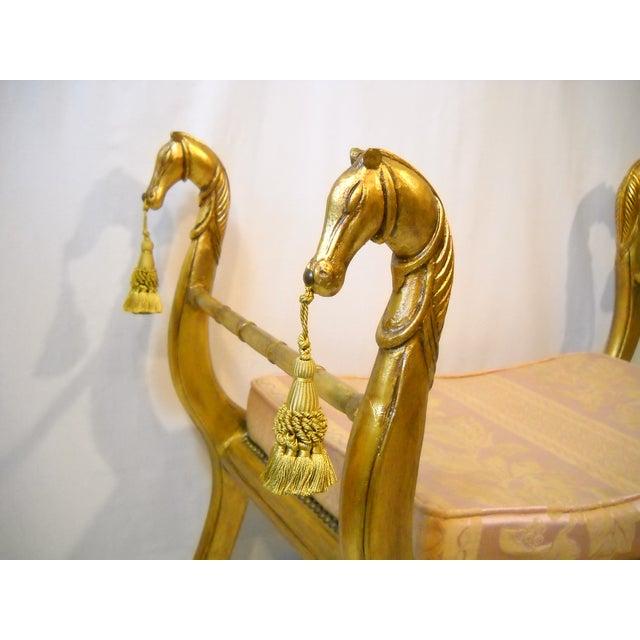 Image of Gilded Horses Window Bench