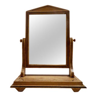 Painted Biedermeier Shaving Mirror
