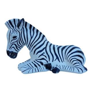 Vintage Ceramic Zebra Statue