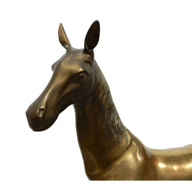 Solid Brass Horse Sculpture - Image 2 of 5