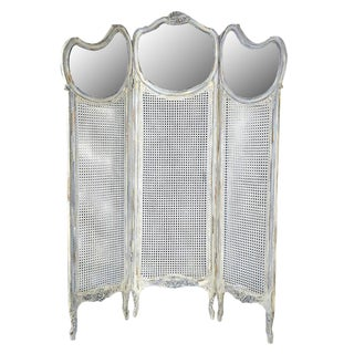 French Louis XV Style Three Panel Screen Divider
