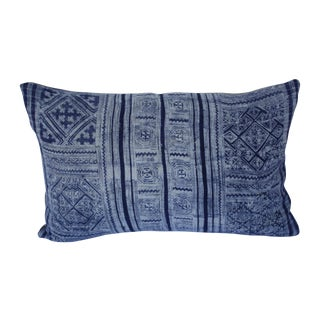 Custom Mali Indigo Pillow