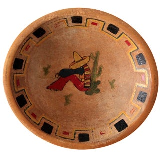 Vintage Mexican Wood Bowl