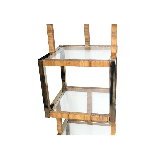 Image of Vintage Cubical Glass Display Shelf