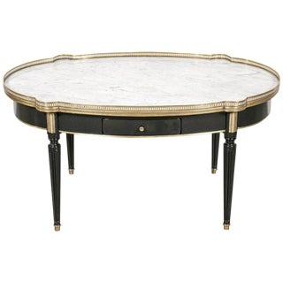 Louis XVI Style Maison Jansen Bouillotte Coffee Table
