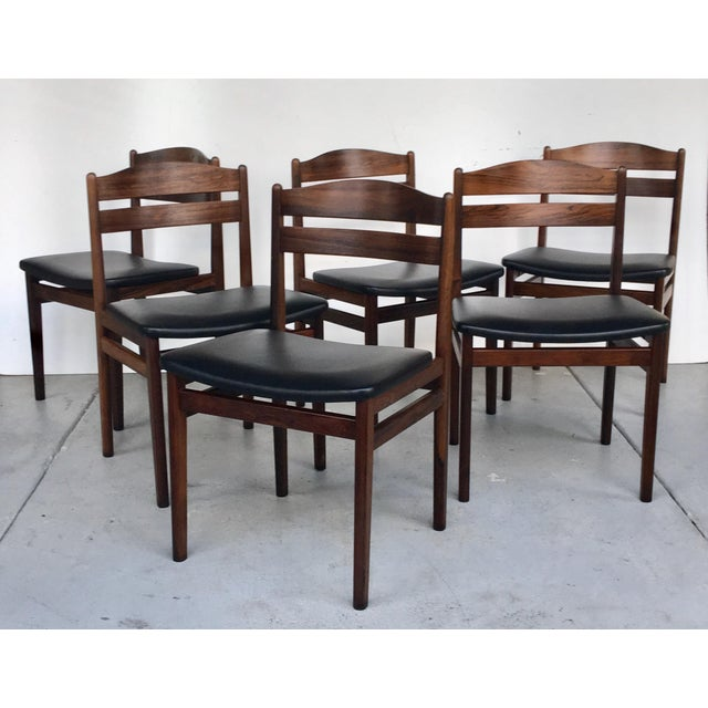 Danish Modern Dining Chair: Danish Modern Rosewood Dining Chairs - Set Of 6