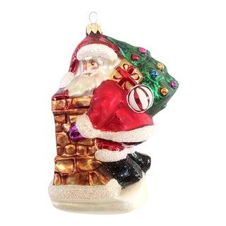 """Christopher Radko """"Santa on the Chimney"""" Christmas Ornament"""
