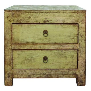 Small Chinese Cabinet in Rustic Light Green