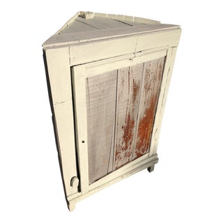 Primitive 1935 Depression Crate Kitchen Corner Cabinet