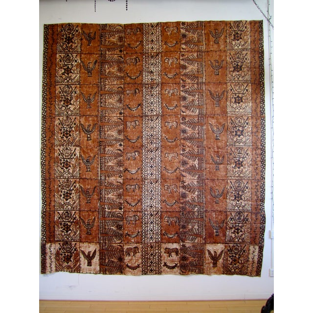 Monumental Tapa Cloth Panels - A Pair - Image 2 of 4