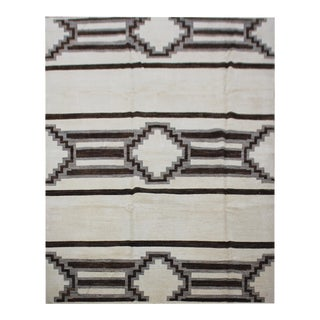 "Aara Rugs Inc. Hand Knotted Navajo Rug - 7'6"" X 9'10"""