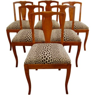 Swedish Flame Birch Dining Side Chairs - Set of 6