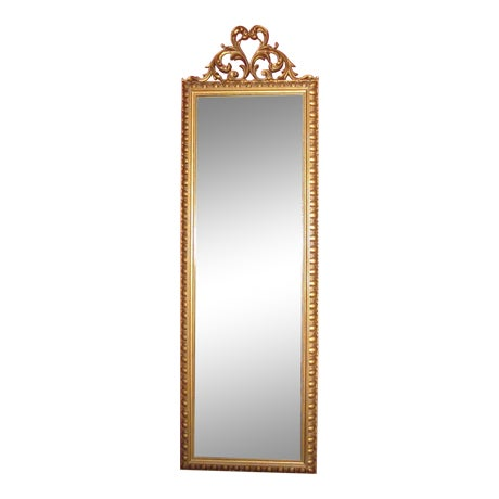 Image of Vintage Gold Scroll Hollywood Regency Mirror