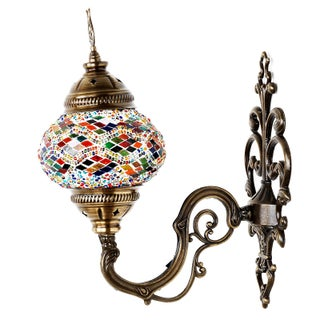 Turkish Tribal Handmade Mosaic Wall Lamp