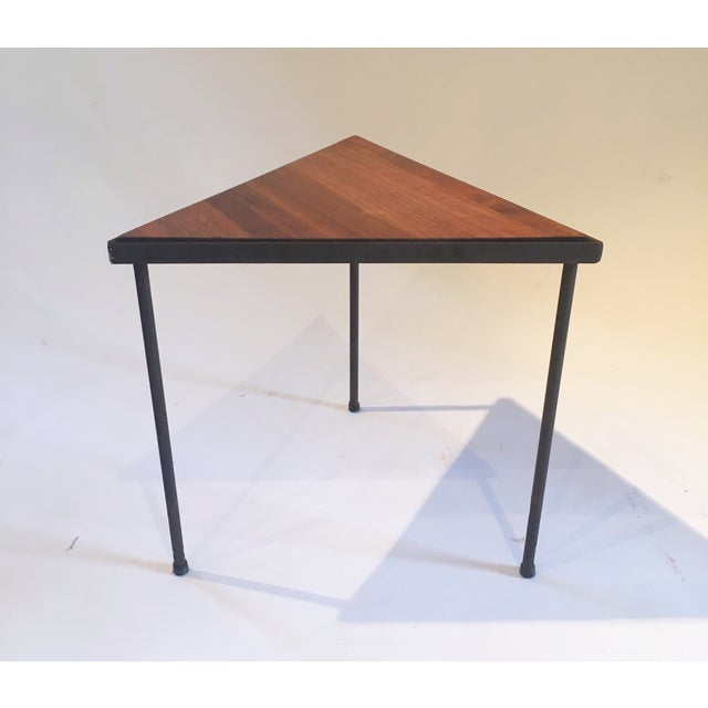 Mid-Century Triangle Side Table