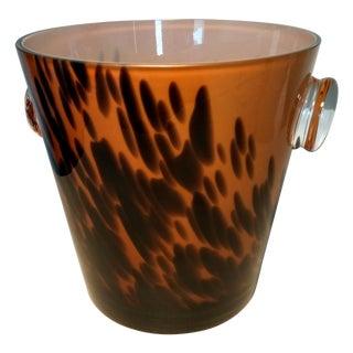 Mid-Century Tortoise Glass Ice Bucket