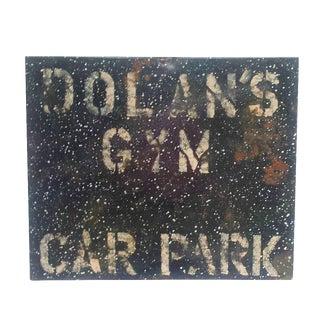 Metal Enamel & Paint Industrial Gym Parking Sign