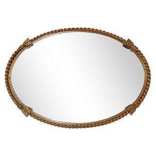 Gilt Tassel Mirrored Tray