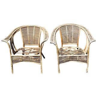 Vintage Ming-Style Bentwood Armchairs - A Pair
