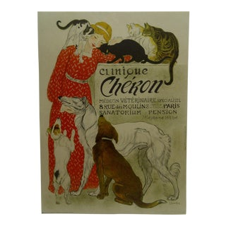 "French ""Clinique Cheron"" Veterinarian Poster"