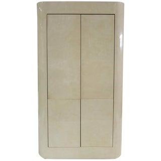 Elegant Faux Parchment Bar Cabinet