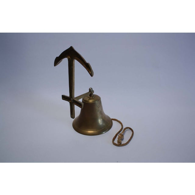 Nautical Brass Anchor Ship Bell - Image 4 of 7