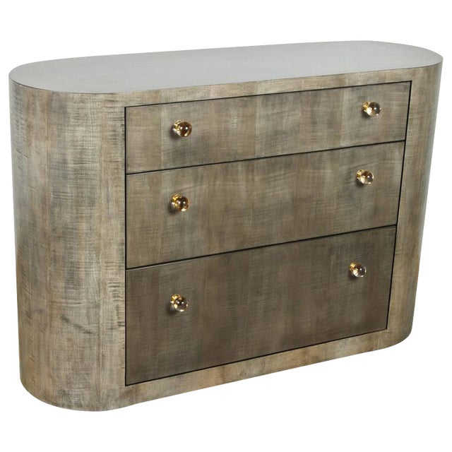 Italian-Inspired 1970s Style Rounded Chest of Drawers - Image 1 of 10