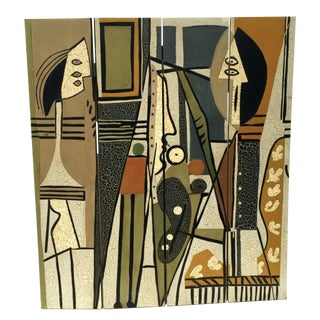 Mid-Century Pablo Picasso Style Room Divider