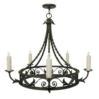 Randy Esada Designs Spanish Mediterranean Wrought Iron Chandelier
